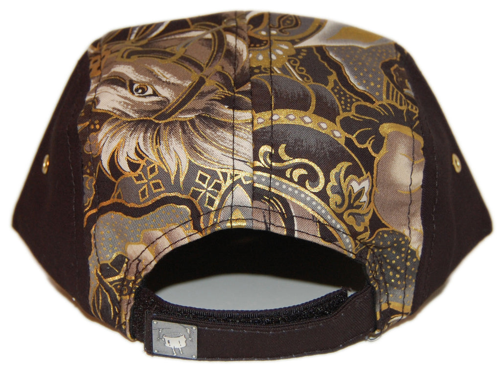 <!--020130604057354-->KicDrum Products - 'Golden Warrior' [(Black) Five Panel Camper Hat]