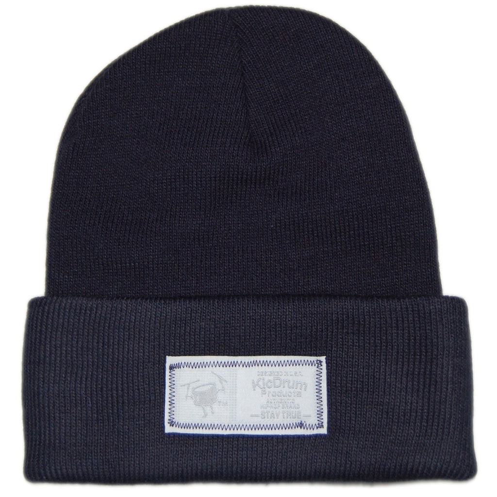 <!--020121225053075-->KicDrum Products - 'Wolf' [(Dark Blue) Winter Beanie Hat]