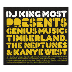King Most - 'Genius Music: Timbaland, The Neptunes, & Kanye West' [CD]