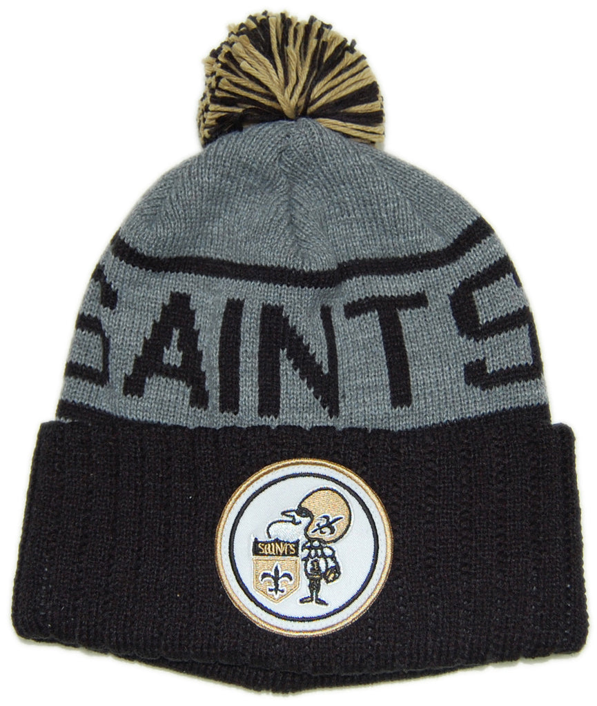 <!--020121120051409-->Mitchell & Ness x NFL - 'New Orleans Saints - NFL High Five Pom Pom' [(Black) Winter Beanie Hat]