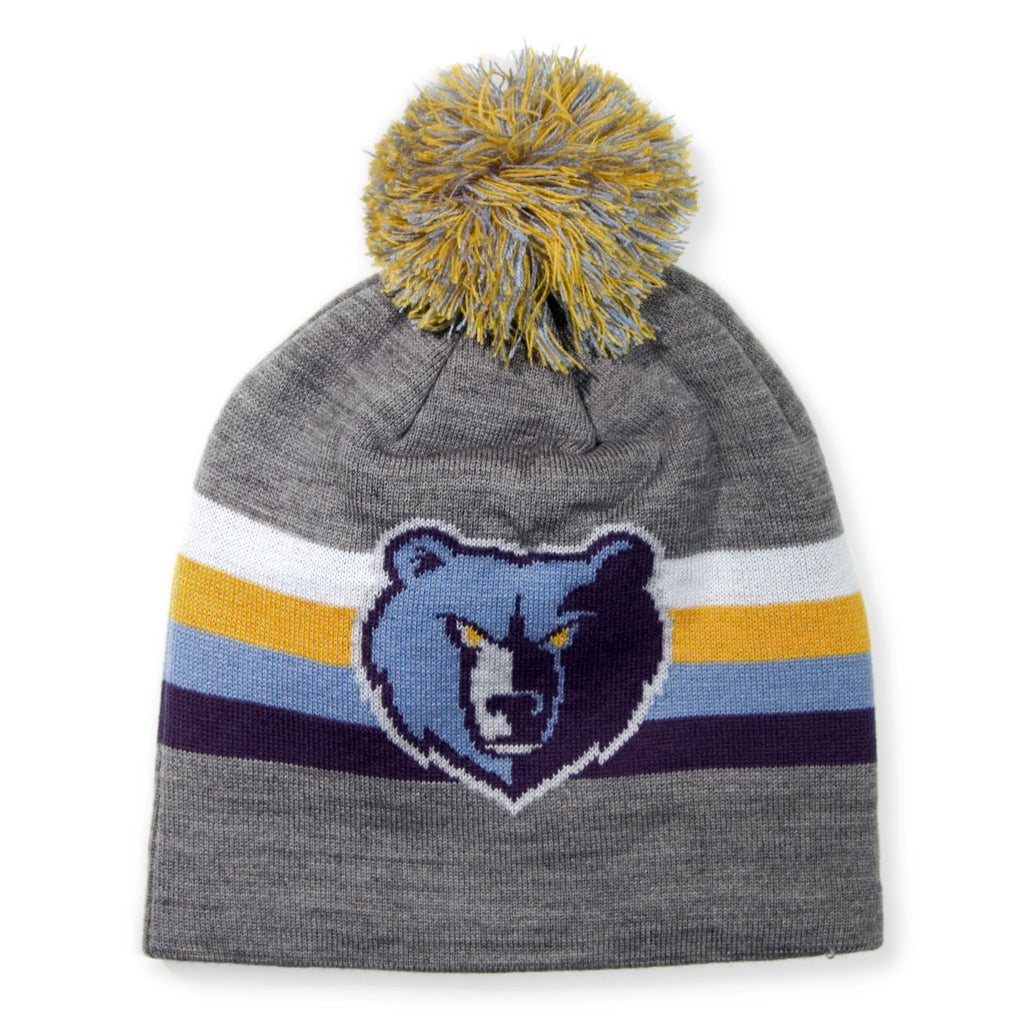 <!--020131213061870-->Mitchell & Ness x NBA - 'Memphis Grizzlies - NBA HWC Boost Pom Long Knit' [(Gray) Winter Beanie Hat]