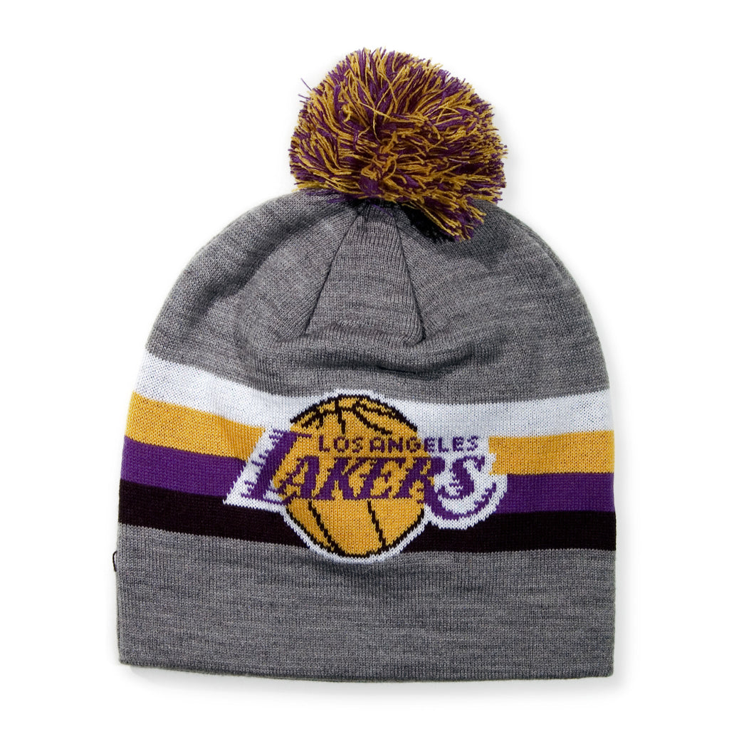 <!--020131213061872-->Mitchell & Ness x NBA - 'Los Angeles Lakers - NBA HWC Boost Pom Long Knit' [(Gray) Winter Beanie Hat]