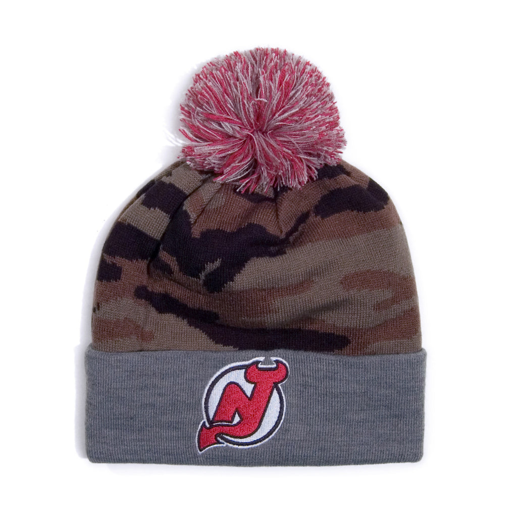 <!--020140911065782-->Mitchell & Ness x NHL - 'New Jersey Devils - Camo Cuffed Pom' [(Camo Pattern) Winter Beanie Hat]