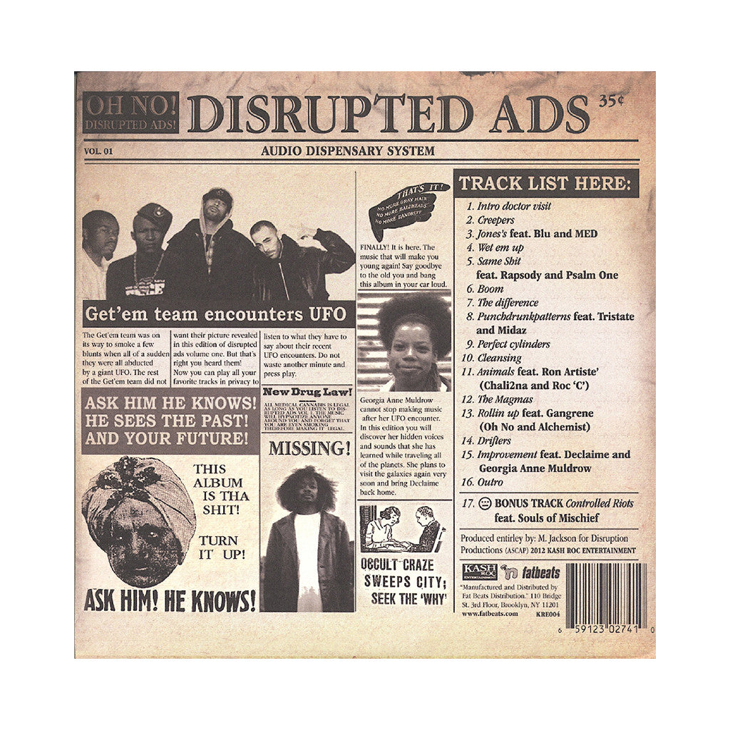 <!--020130212048155-->Oh No - 'Disrupted Ads' [(Black) Vinyl [2LP]]