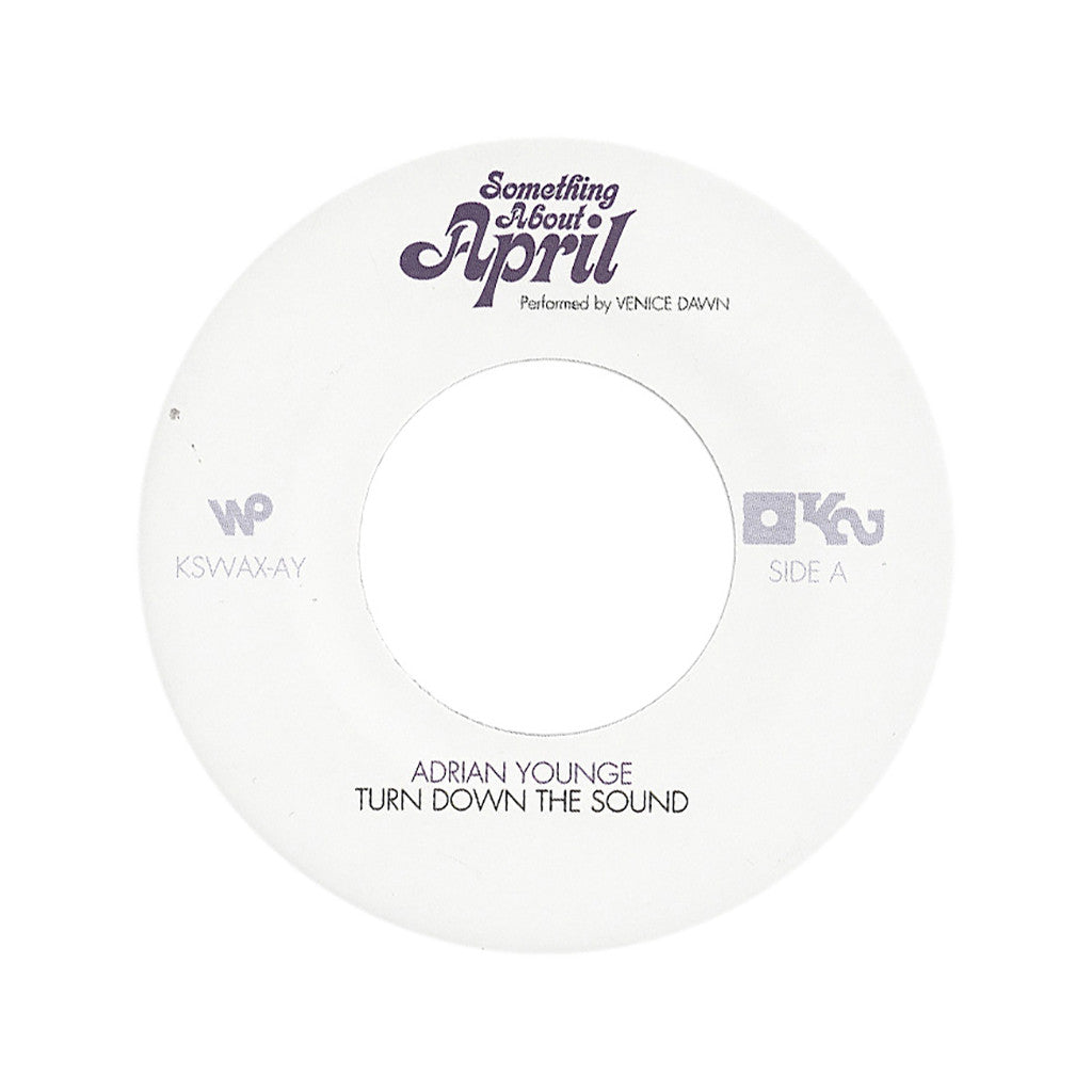 "Adrian Younge Presents Venice Dawn - 'Turn Down The Sound/ 1969 Organ' [(Black) 7"" Vinyl Single]"