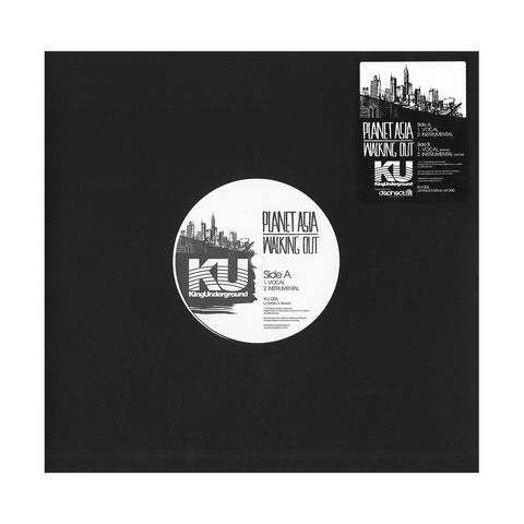 "[""Planet Asia - 'Walking Out/ Walking Out (Remix)' [(Black) 10\"" Vinyl Single]""]"