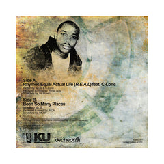 "<!--2014021140-->MCM - 'Rhymes Equal Actual Life (R.E.A.L.)/ Been So Many Places' [(Black) 7"" Vinyl Single]"