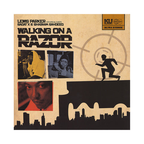 "[""Lewis Parker - 'Walking On A Razor Pt. 1/ Walking On A Razor Pt. 2/ Walking On A Razor Pt. 2 (Remixes)' [(Black) 12\"" Vinyl Single]""]"