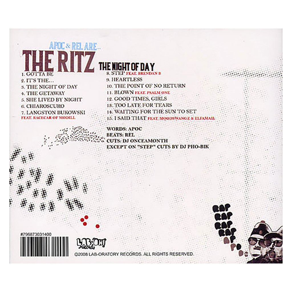 The Ritz - 'The Night Of Day' [CD]