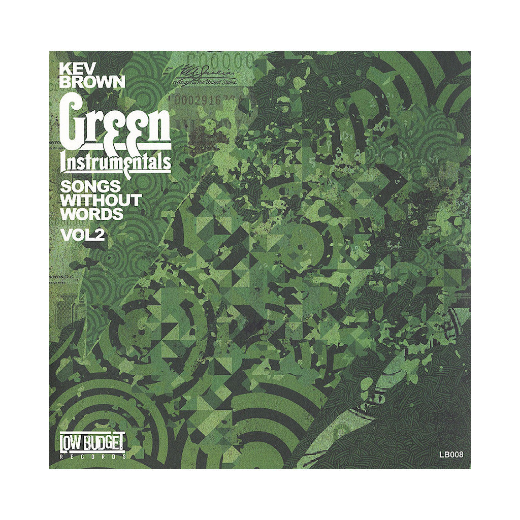 <!--020130709057963-->Kev Brown - 'Songs Without Words Vol. 2: Alexander Green (Instrumentals)' [(Hulk Green & Black) Vinyl LP]