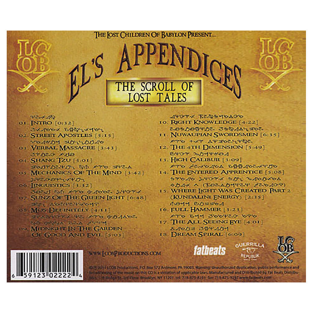 <!--020111206036845-->Lost Children Of Babylon - 'El's Appendices: The Scroll Of Lost Tales' [CD]