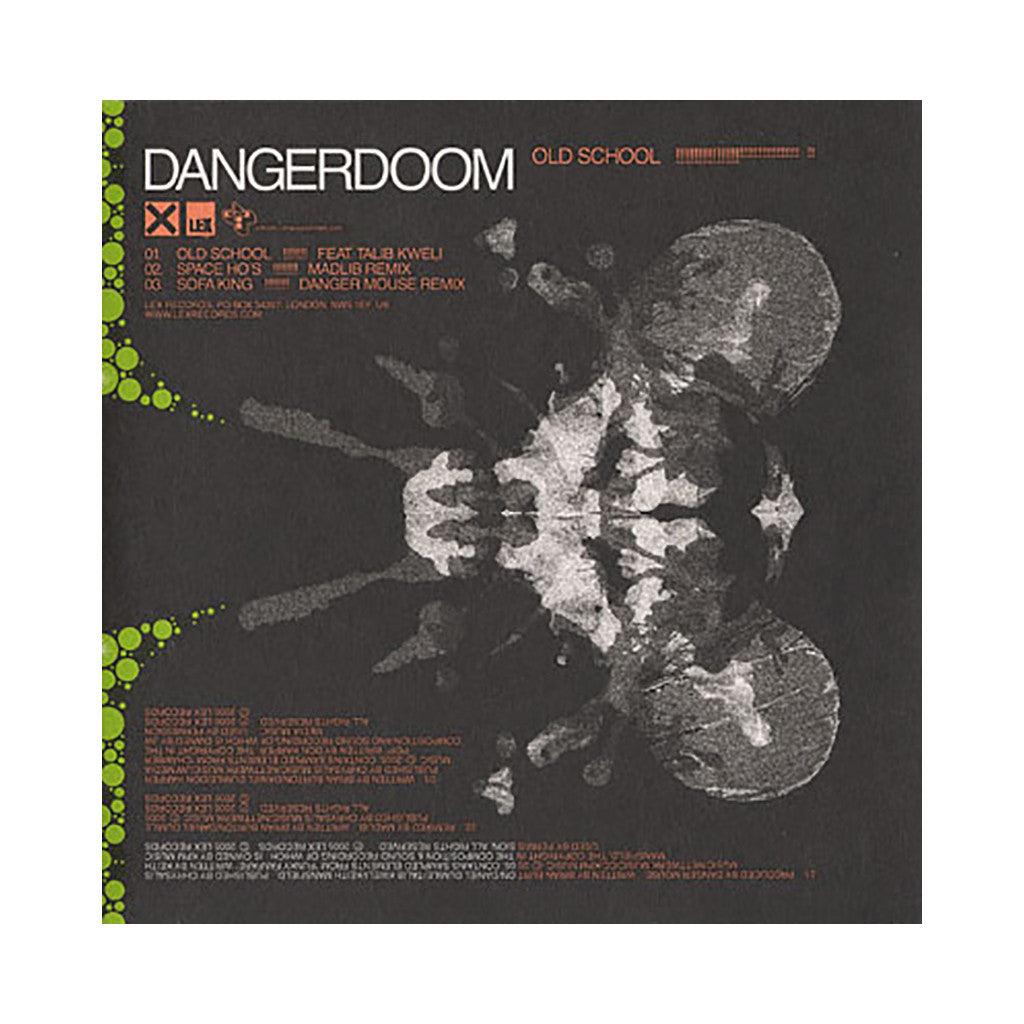 DANGER DOOM - 'Old School/ Space Ho's (Madlib Remix)/ Sofa King (Danger Mouse Remix)' [CD]