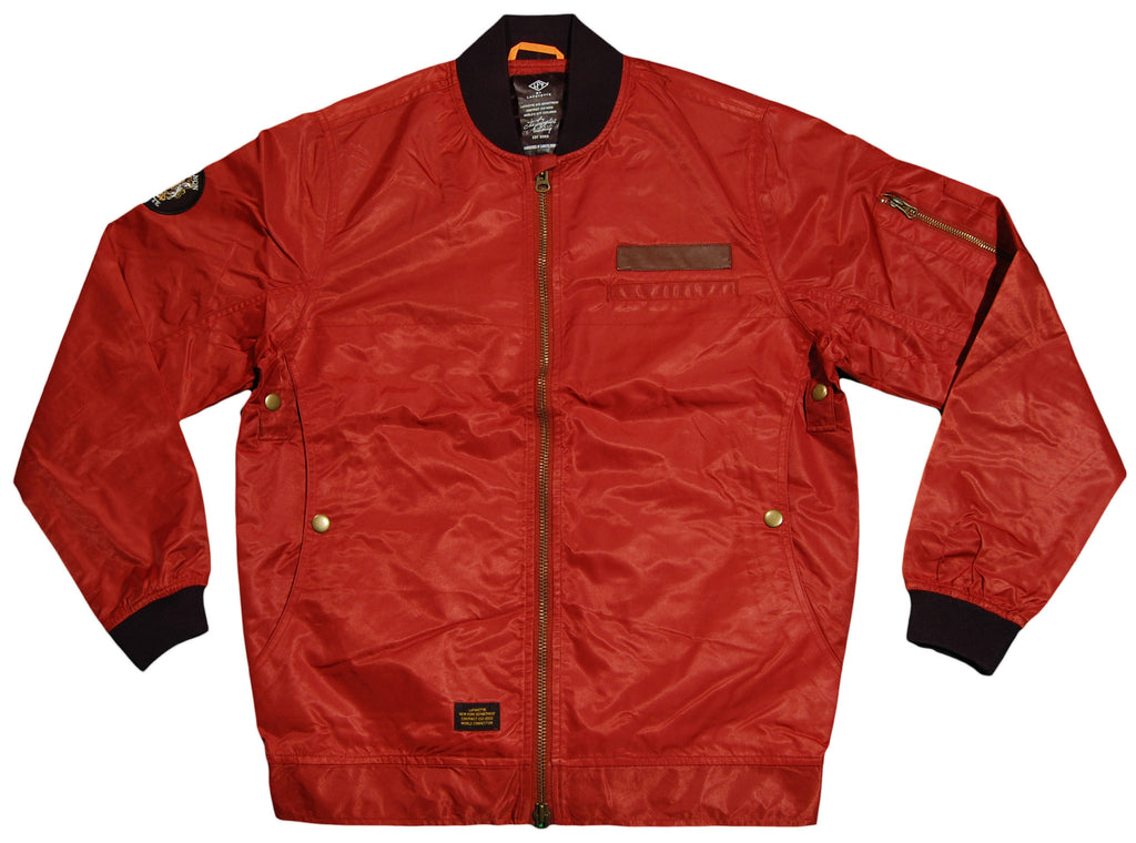 <!--2012111313-->Lafayette - 'Shiny Bomber' [(Dark Red) Jacket]