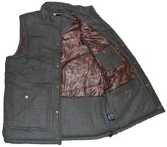 <!--2012120424-->Lafayette - 'Poly Fill Wool Vest' [(Dark Gray) Vest]