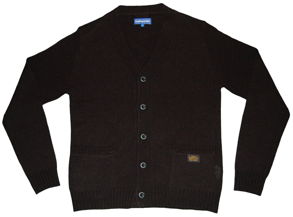 <!--2012120408-->Lafayette - 'Solid Knitted Cardigan' [(Black) Sweater]