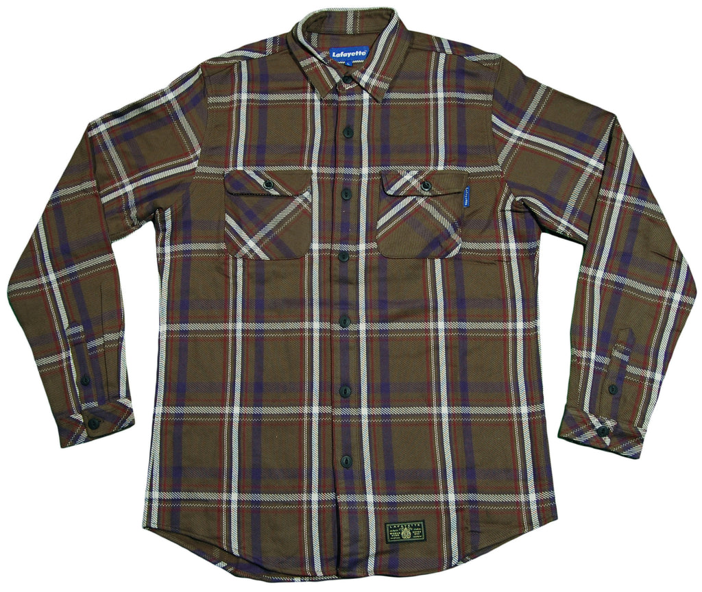 <!--2012111331-->Lafayette - 'Plaid Heavy Nel Shirt' [(Dark Green) Button Down Shirt]