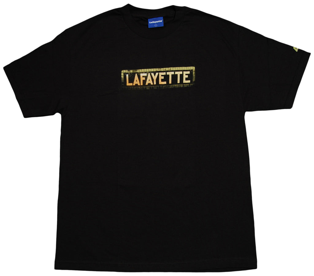 <!--2012111301-->Lafayette - 'Subway Sign' [(Black) T-Shirt]