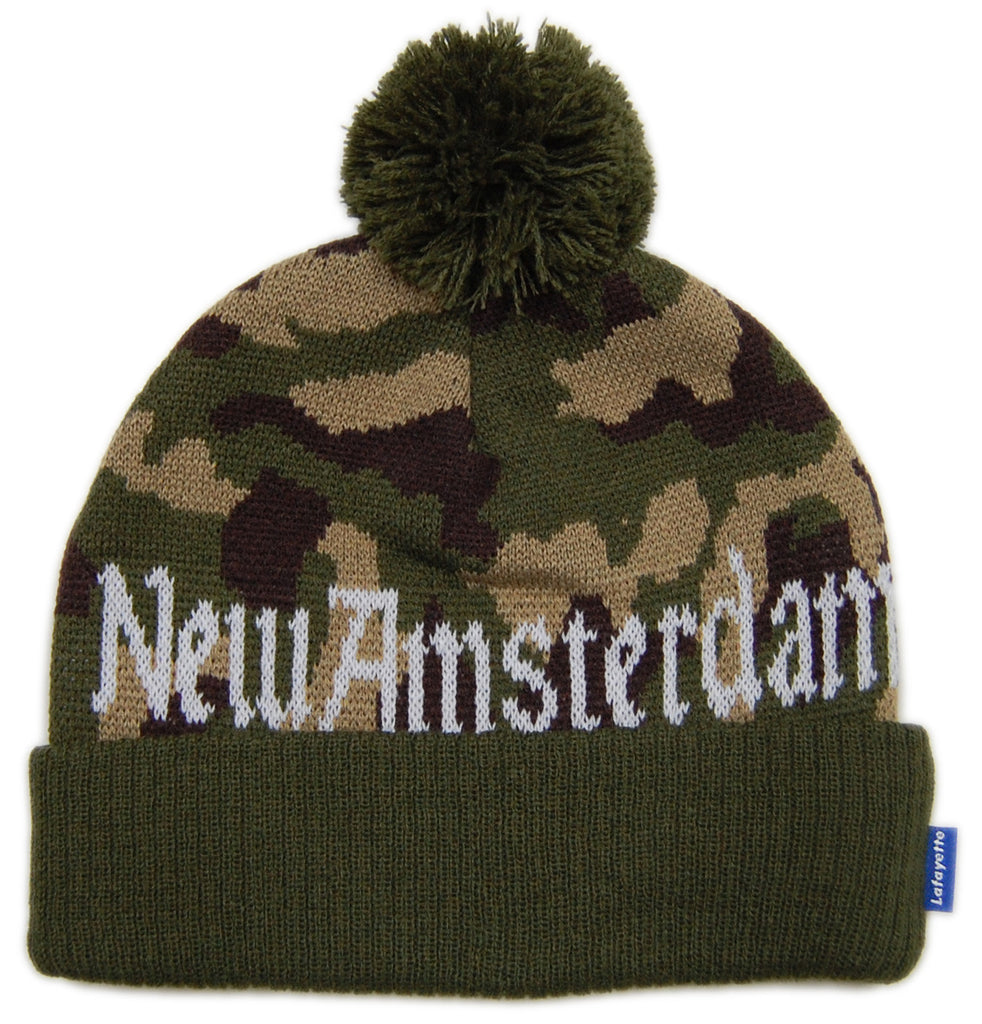 <!--020121204052199-->Lafayette - 'New Amsterdam - Woodland' [(Camo Pattern) Winter Beanie Hat]