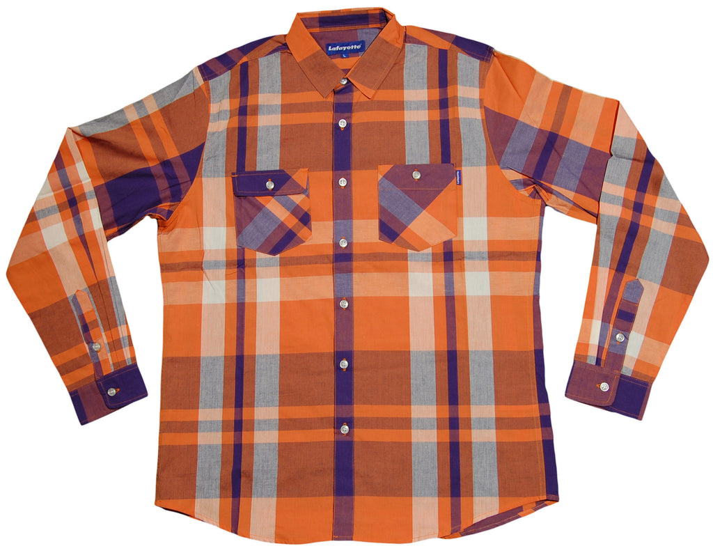 <!--2013040233-->Lafayette - 'Basic Plaid' [(Orange) Button Down Shirt]