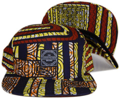 <!--020130730058551-->Lafayette - 'African Pattern - Yellow' [(Multi-Color) Snap Back Hat]