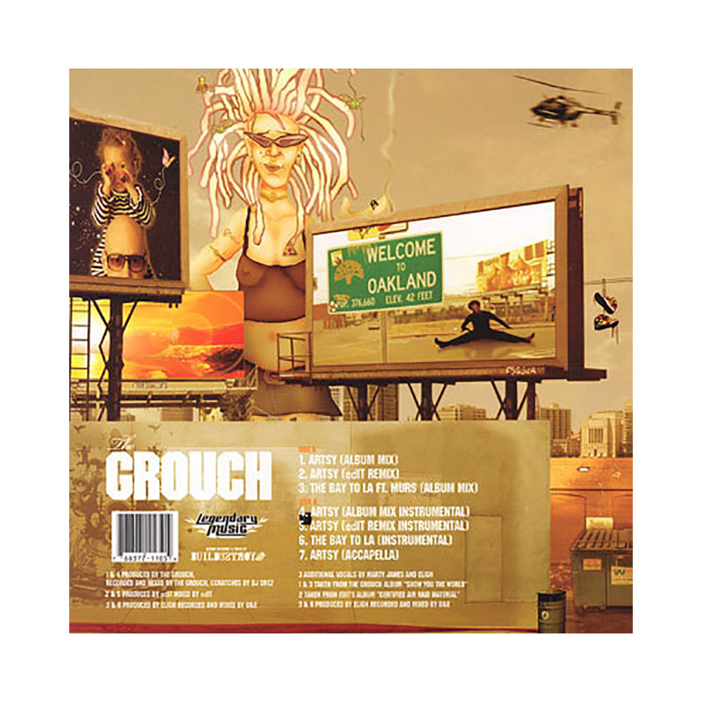 "The Grouch - 'Artsy/ Artsy (Remix)/ The Bay To L.A.' [(Black) 12"" Vinyl Single]"