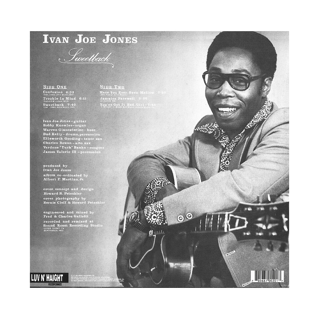 Ivan 'Boogaloo Joe' Jones - 'Sweetback' [(Black) Vinyl LP]
