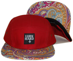 <!--020130924059985-->Lurk Hard - 'Native' [(Dark Red) Five Panel Camper Hat]