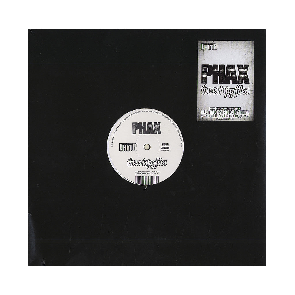 <!--020120731048573-->PHAX - 'The Crispy Files' [(Black) Vinyl EP]
