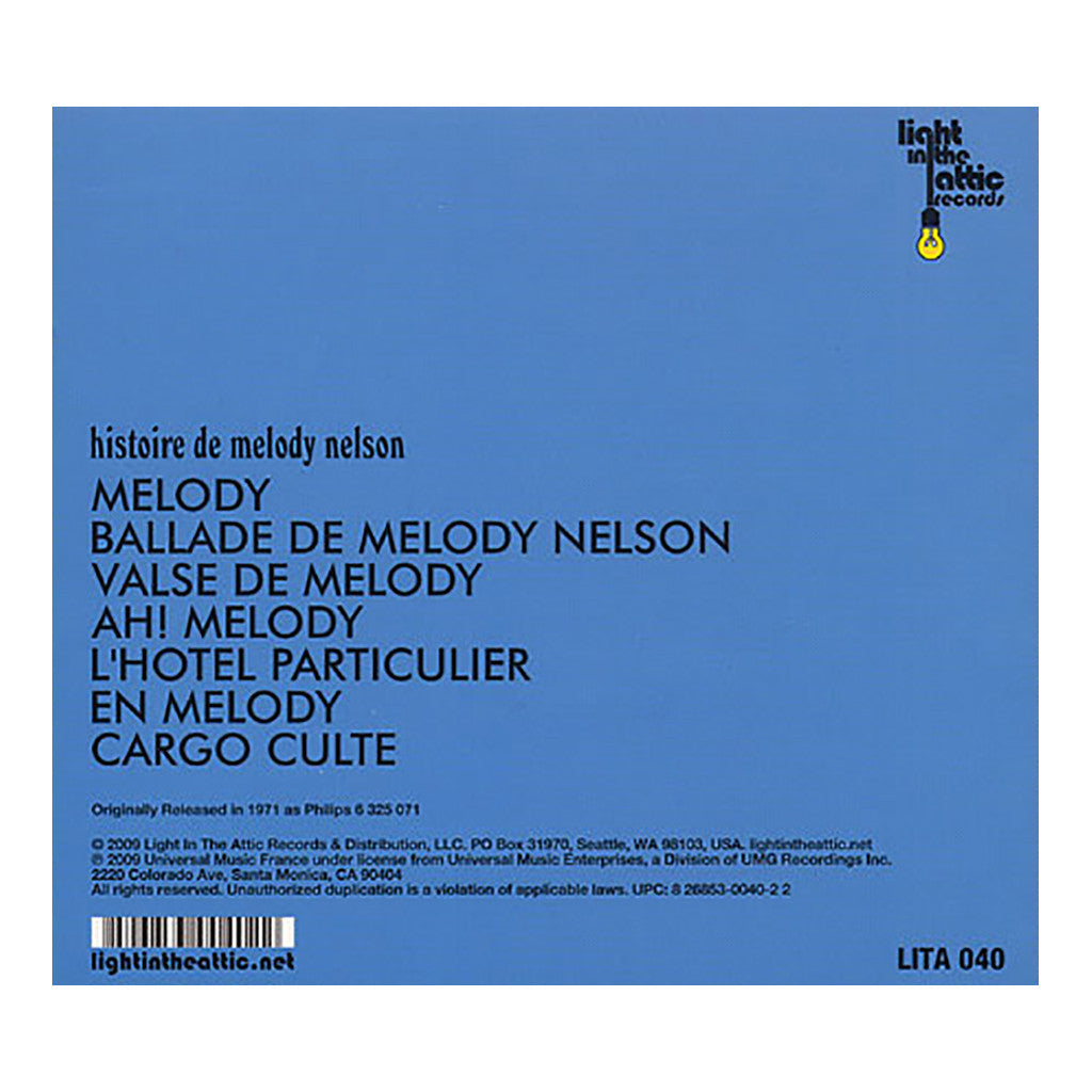 Serge Gainsbourg - 'Histoire De Melody Nelson (Deluxe Edition)' [CD]