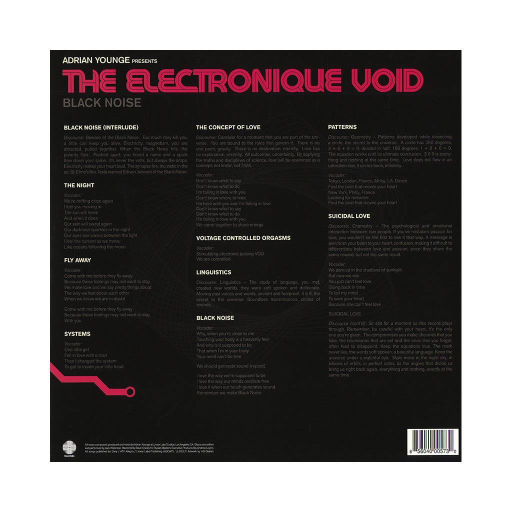 Adrian Younge Presents - 'The Electronique Void: Black Noise' [(Black) Vinyl LP]