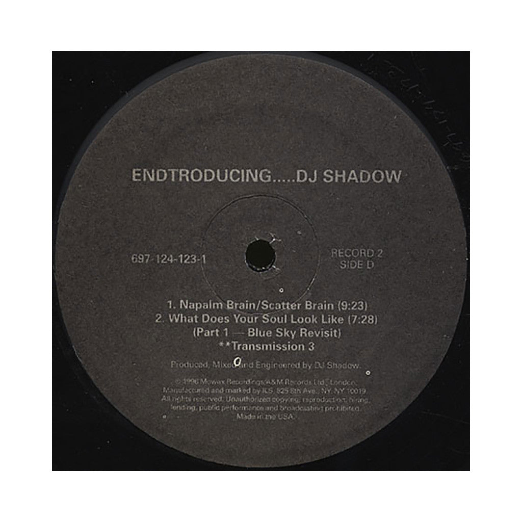 DJ Shadow - 'Endtroducing... (White Label)' [(Black) Vinyl [2LP]]