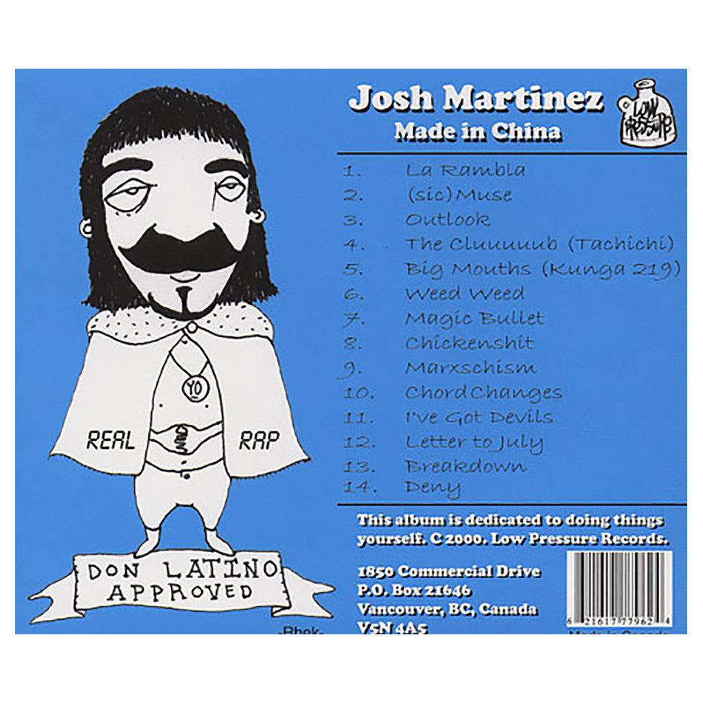 Josh Martinez - 'Made In China' [CD]