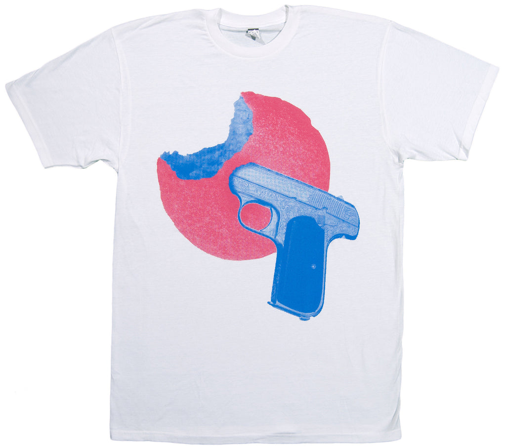 <!--2013102945-->Samiyam - 'Wish You Were Here: Donut vs Pistol' [(White) T-Shirt]