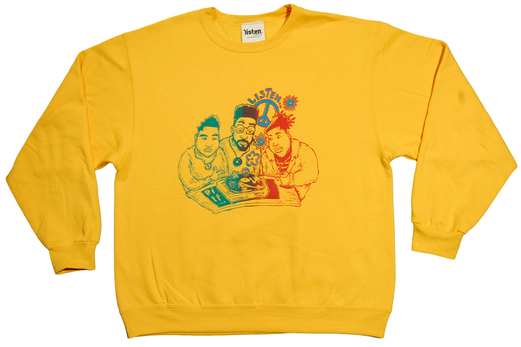 <!--2012121829-->Listen Clothing (De La Soul) - 'Rising' [(Dark Yellow) Crewneck Sweatshirt]