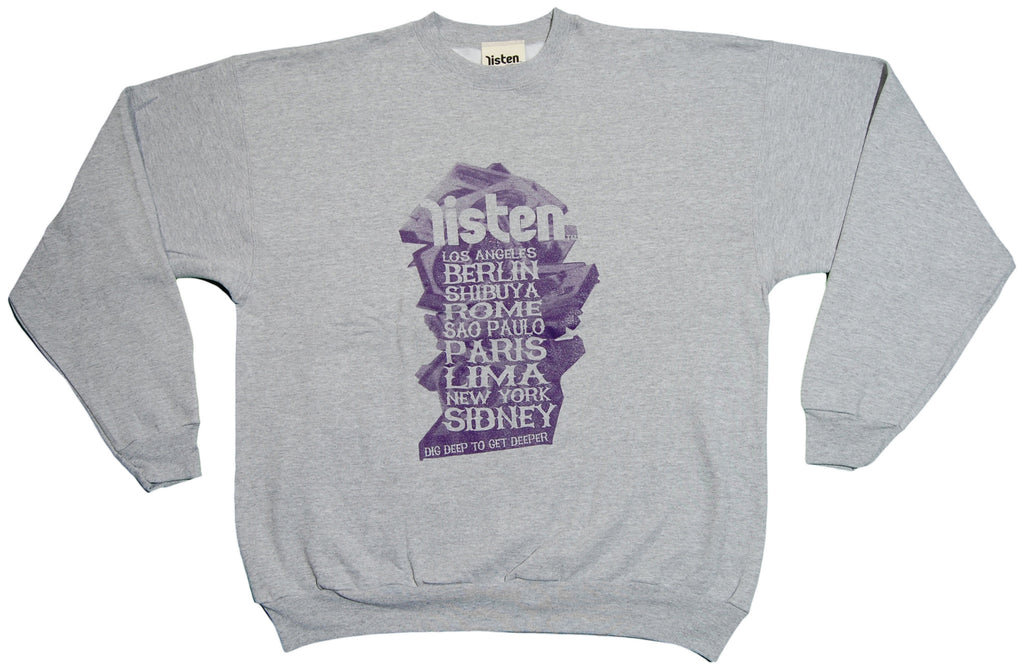 <!--2012121820-->Listen Clothing - 'Dig Deep' [(Gray) Crewneck Sweatshirt]