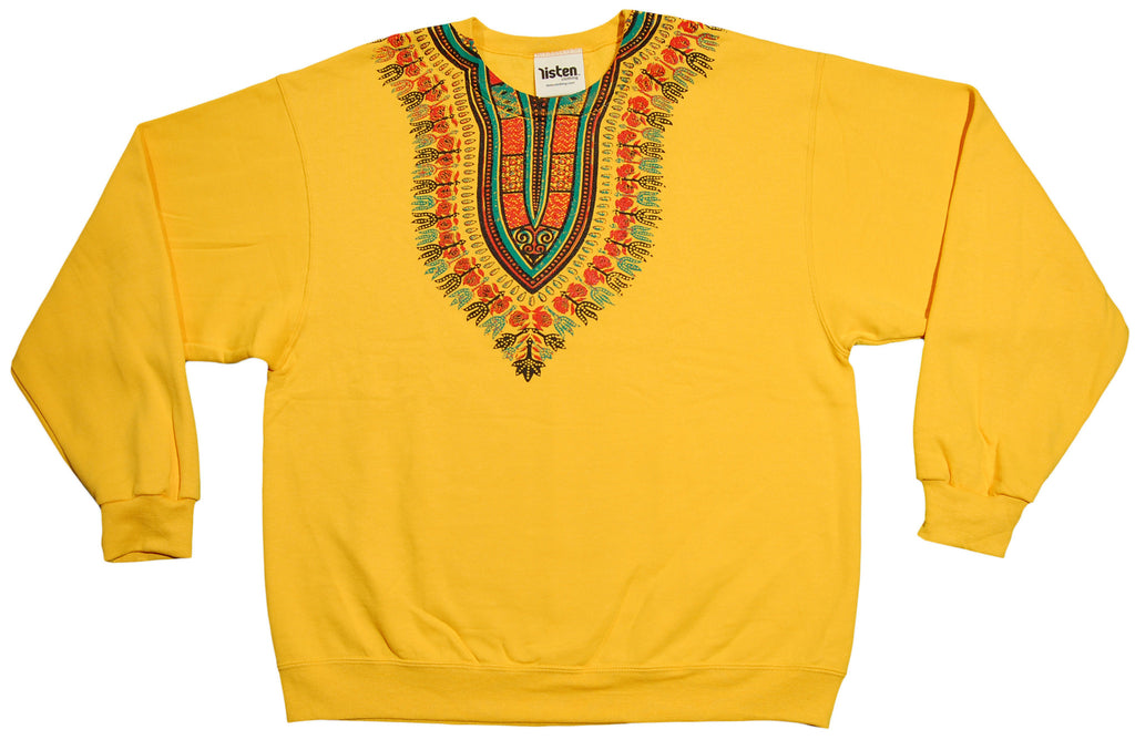 <!--2012121849-->Listen Clothing - 'Dashiki' [(Dark Yellow) Crewneck Sweatshirt]