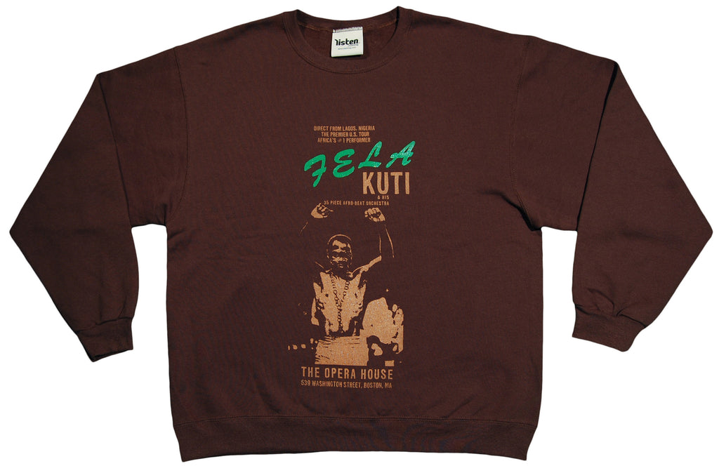 <!--2012121853-->Listen Clothing - 'Fela 8' [(Brown) Crewneck Sweatshirt]