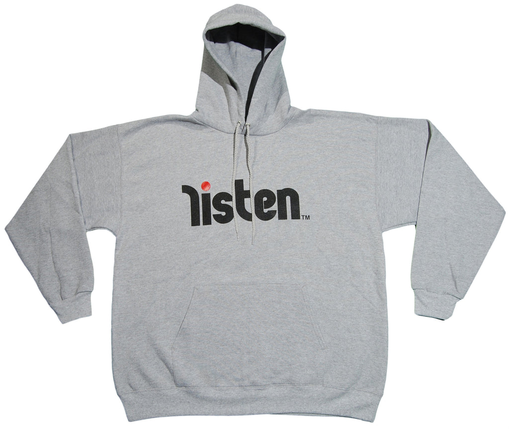 <!--2012121807-->Listen Clothing - 'Logo - Gray/ Black' [(Gray) Hooded Sweatshirt]
