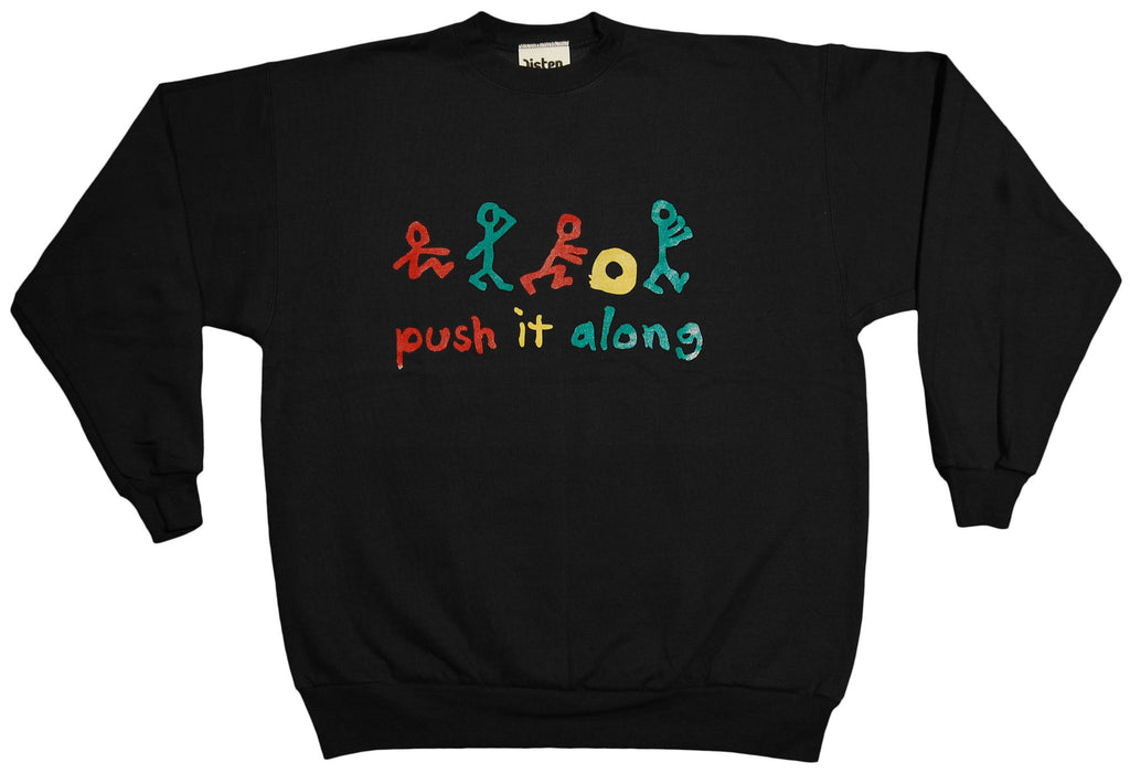 <!--2012121855-->Listen Clothing (A Tribe Called Quest) - 'Push It Along' [(Black) Crewneck Sweatshirt]
