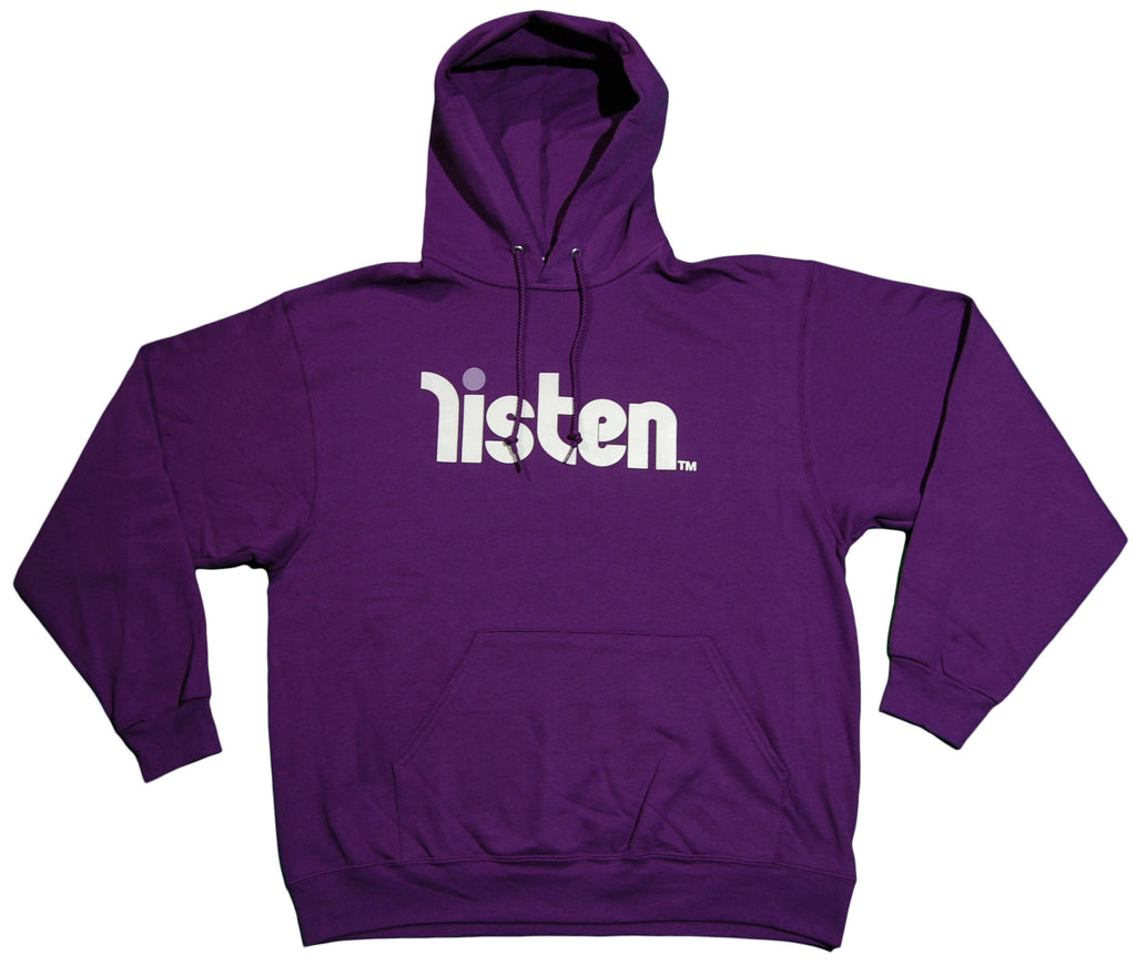 <!--2010122859-->Listen Clothing - 'Logo' [(Purple) Hooded Sweatshirt]