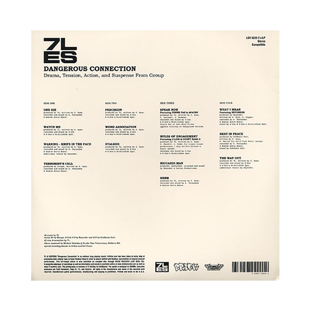 7L & Esoteric - 'Dangerous Connection' [(Black) Vinyl [2LP]]