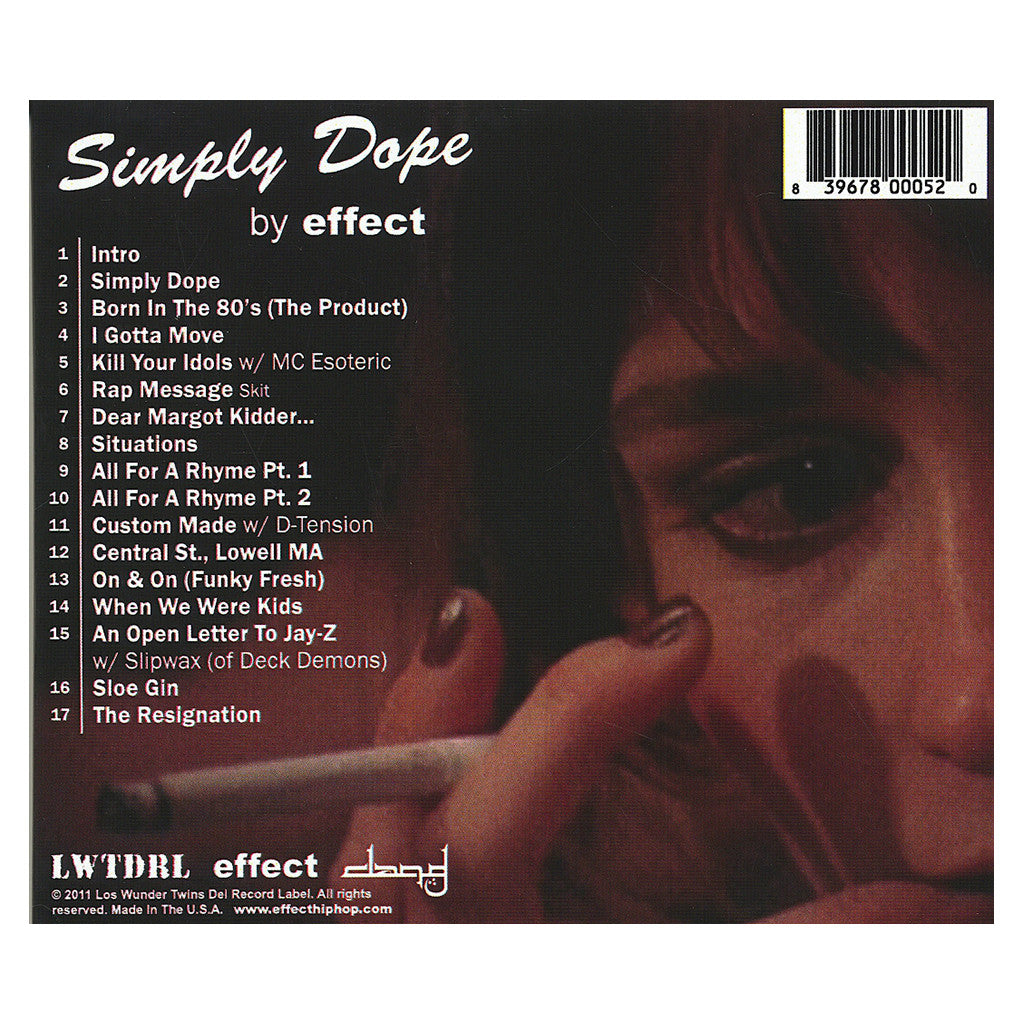 Effect - 'Simply Dope' [CD]