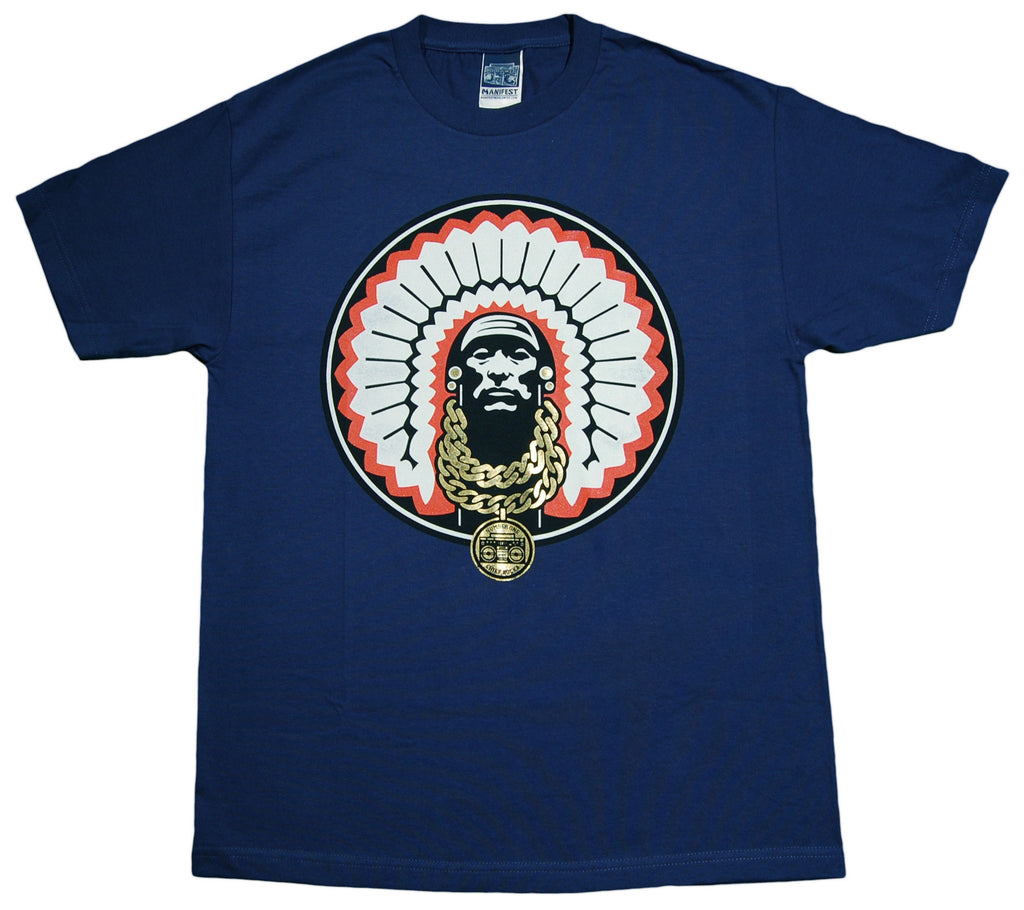 <!--2013070215-->Manifest - 'Chief Rocka' [(Dark Blue) T-Shirt]
