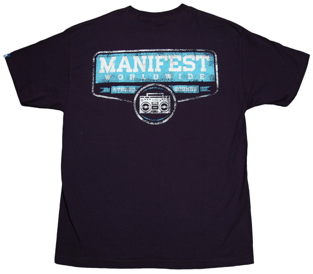 <!--2011121311-->Manifest - 'Stereo Sounds' [(Dark Blue) T-Shirt]