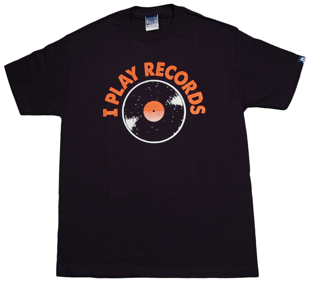 <!--2012122554-->Manifest - 'Play Records' [(Dark Blue) T-Shirt]