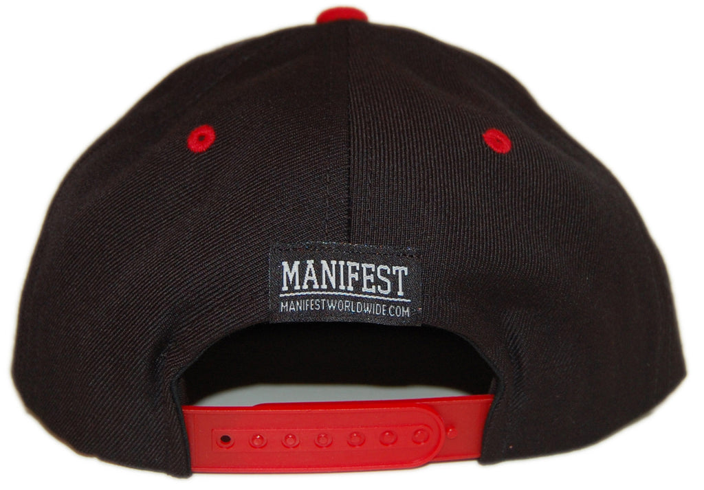 <!--020121225052997-->Manifest - 'DJ - Navy/ Red' [(Dark Blue) Snap Back Hat]