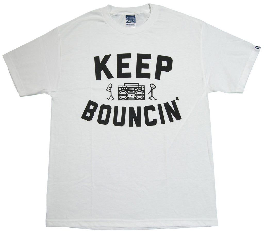 <!--2013070214-->Manifest - 'Keep Bouncin'' [(White) T-Shirt]