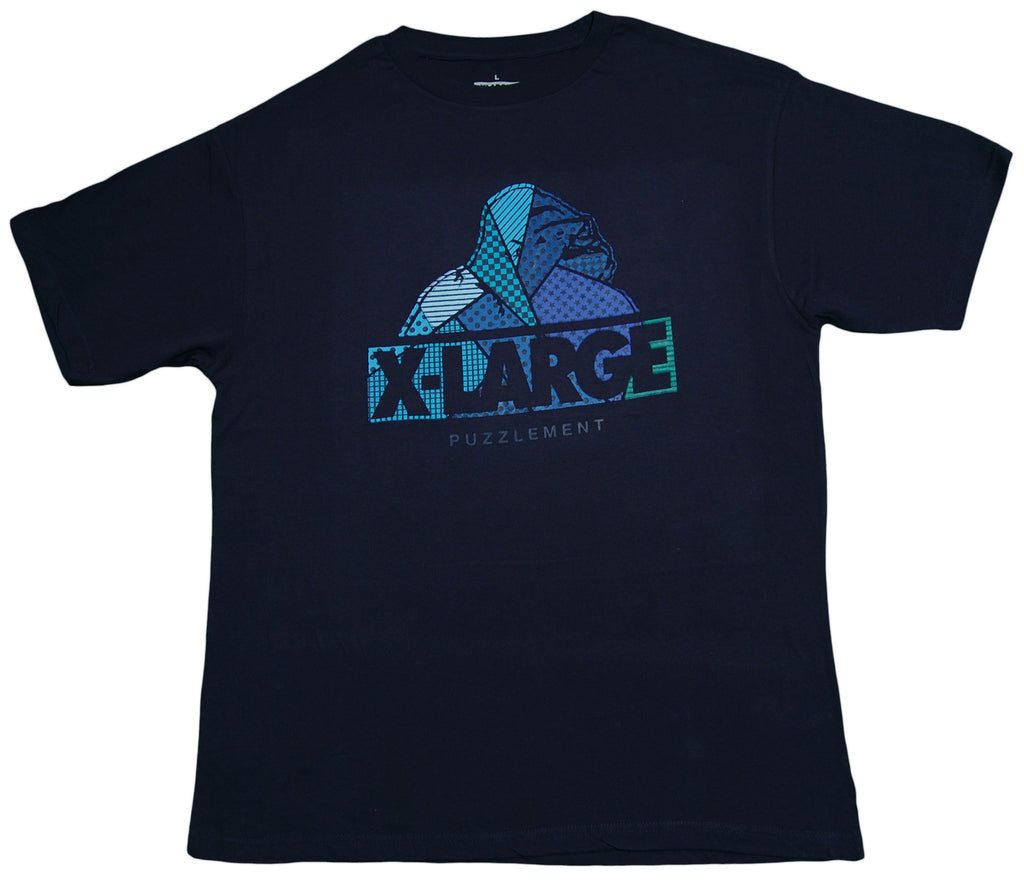 <!--2013042307-->X-LARGE - 'Puzzlement' [(Dark Blue) T-Shirt]