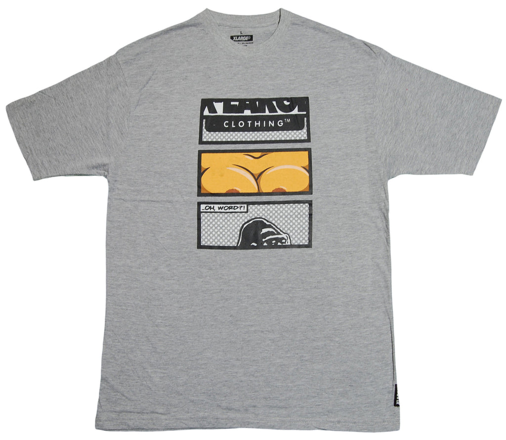 X-LARGE - 'OH WORD?!' [(Gray) T-Shirt]