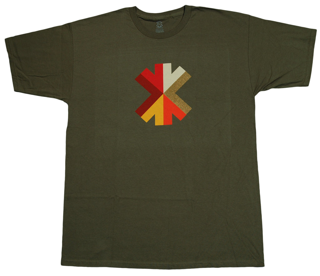 <!--2012060540-->X-LARGE - 'Mosaic' [(Dark Green) T-Shirt]